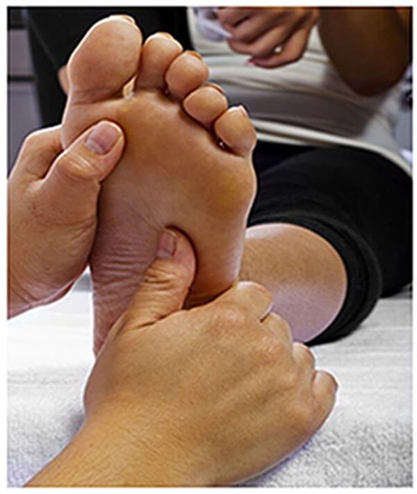 foot massage for patient